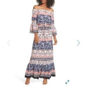 Eliza J Boho Off Shoulder Dress